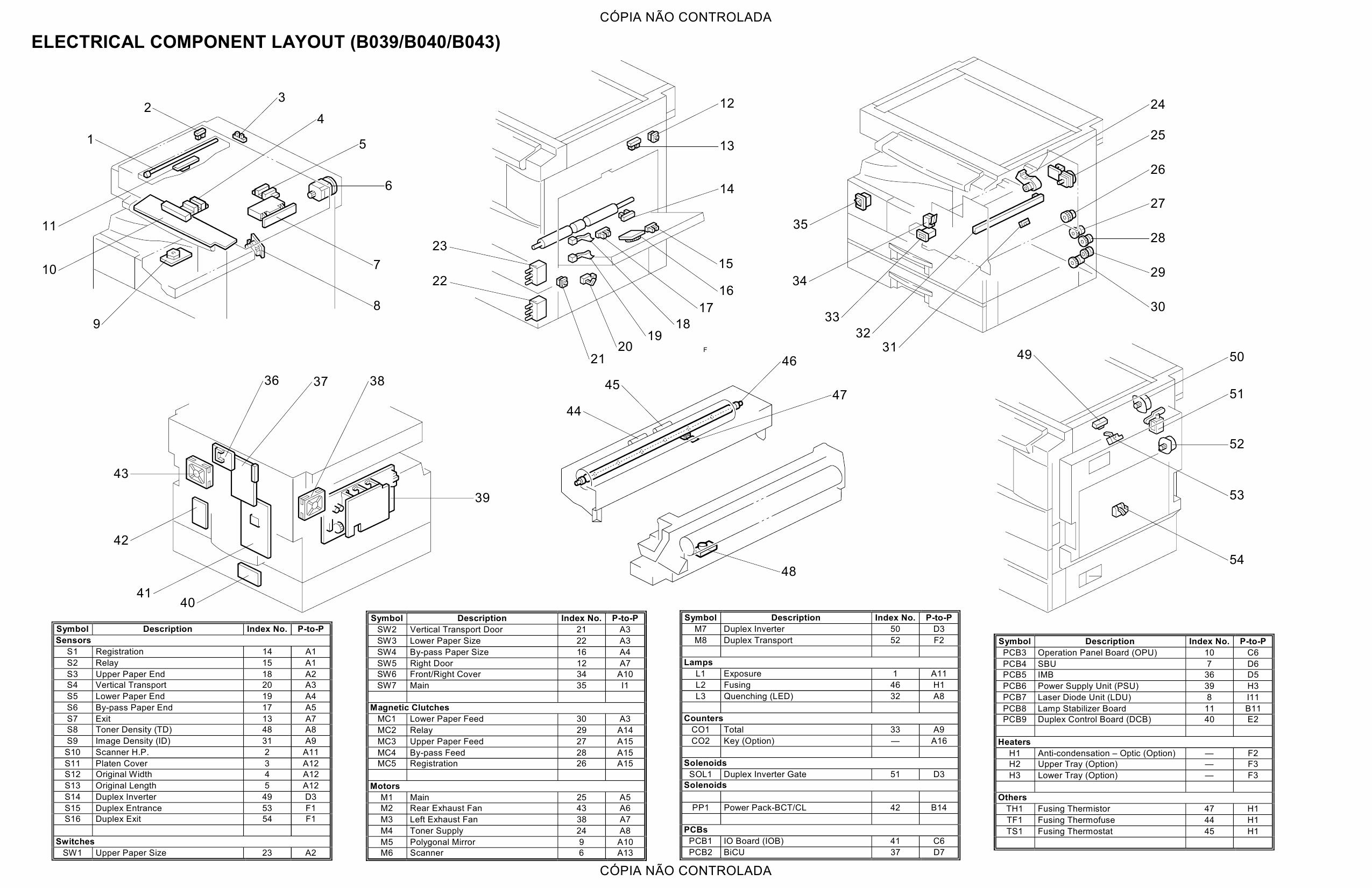 RICOH Aficio 1015 1018 1018D 1113 B039 B040 B043 B120 Circuit Diagram-2